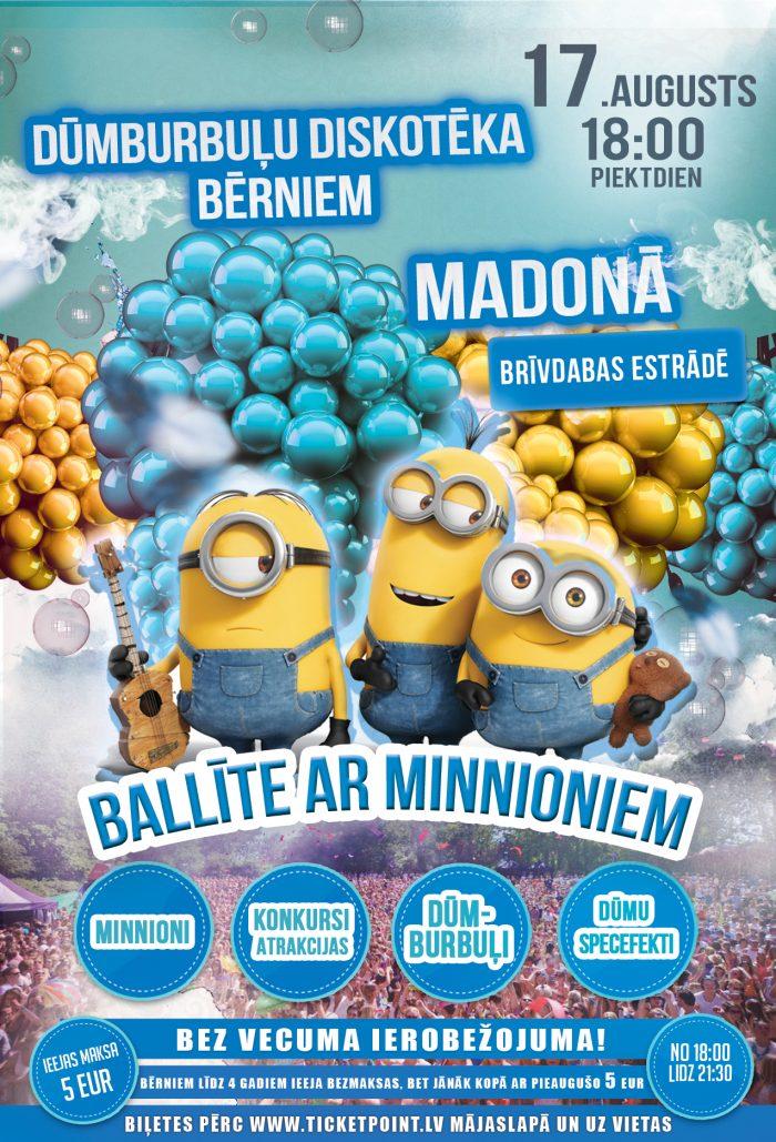 Dūmburbuļu ballīte Madonā